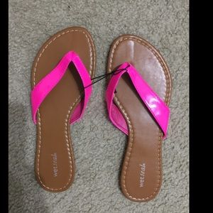 Brand New Hot Pink Wet Seal Sandals